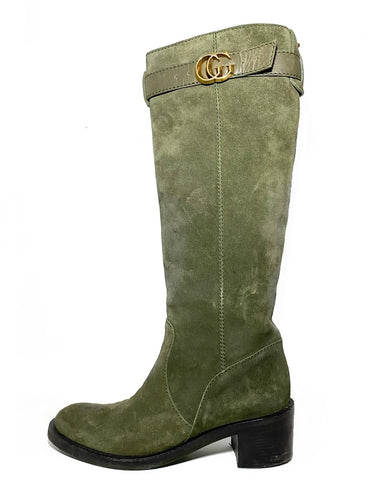 Suede GG Boots 38