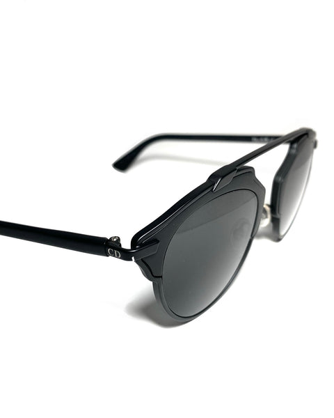 So Real Matt Black Sunglasses