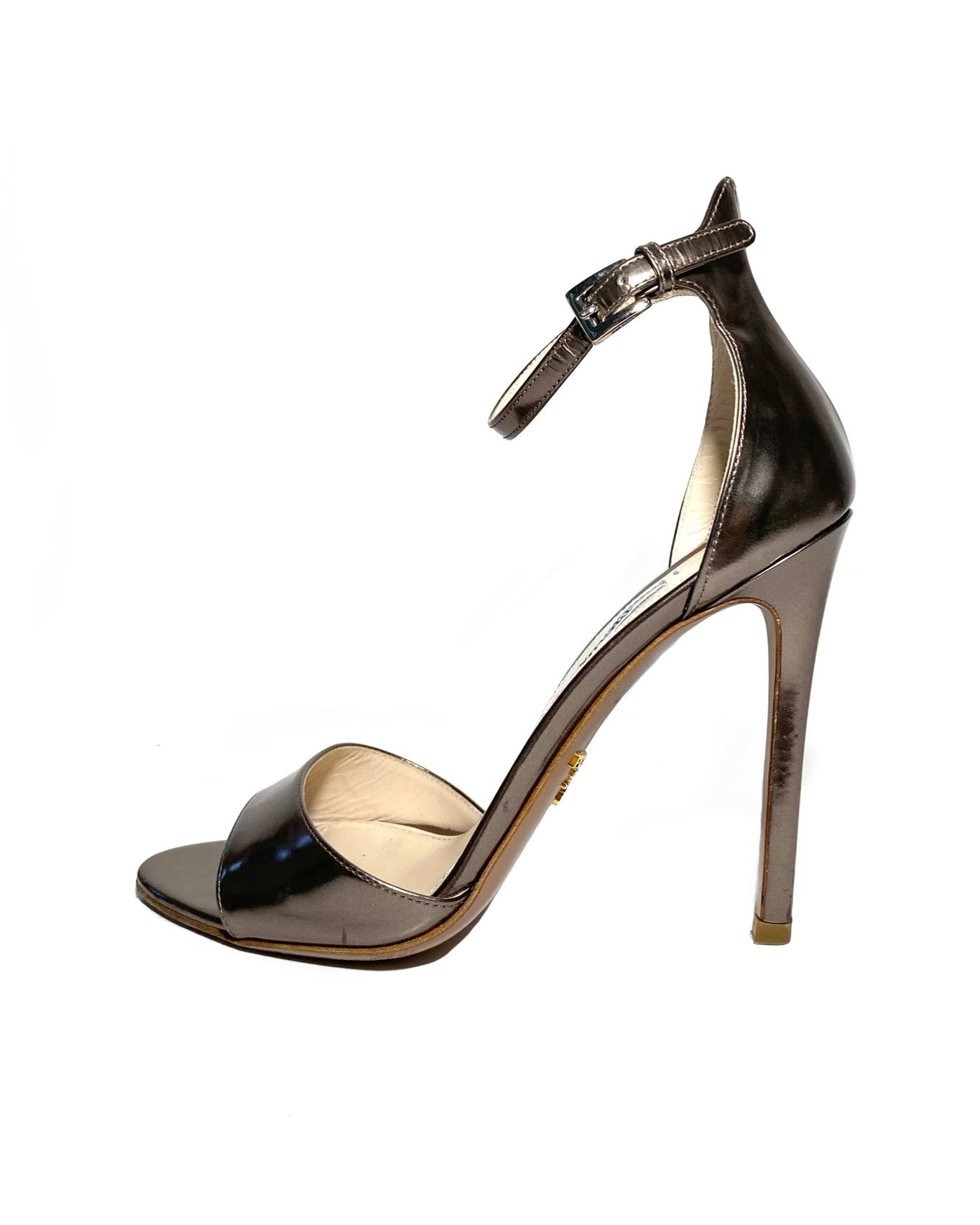Metallic Ankle Strap Sandals 36