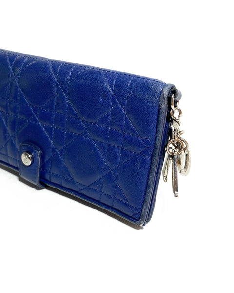 Lambskin Cannage Lady Dior Wallet