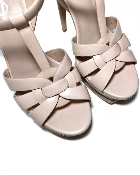 Calfskin Leather Tribute Sandals 36.5