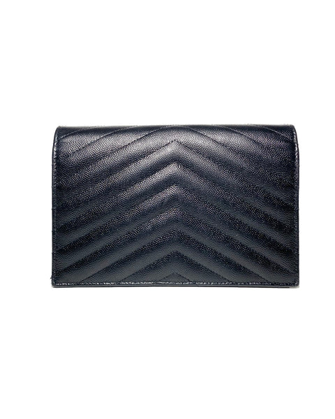 Grained Leather Wallet On Chain