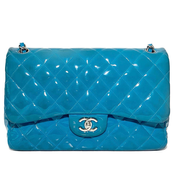 Patent Quilted Jumbo Double Flap