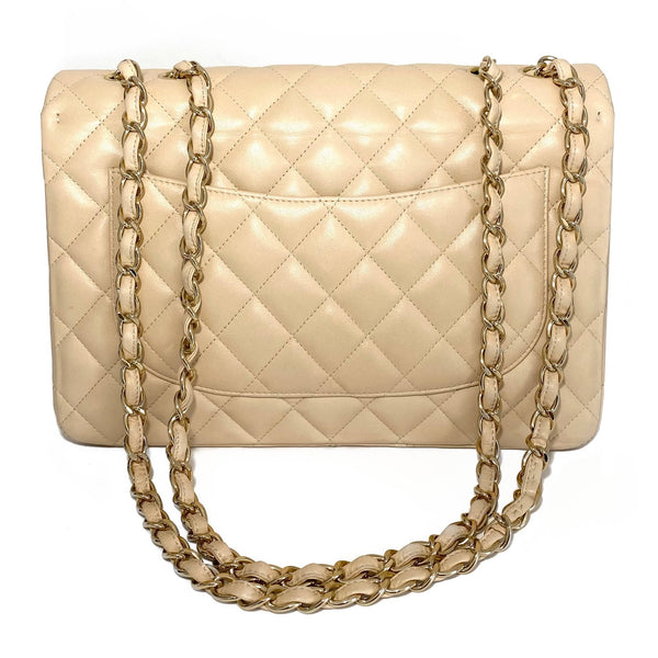 Lambskin Quilted Jumbo Single Flap Bag