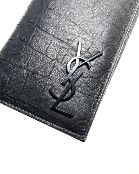 Croco Embossed Long Wallet