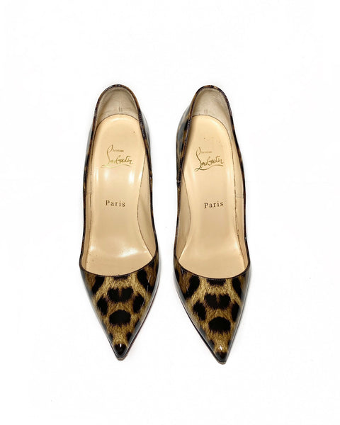 Patent Leopardino So Kate 120 pumps 37.5