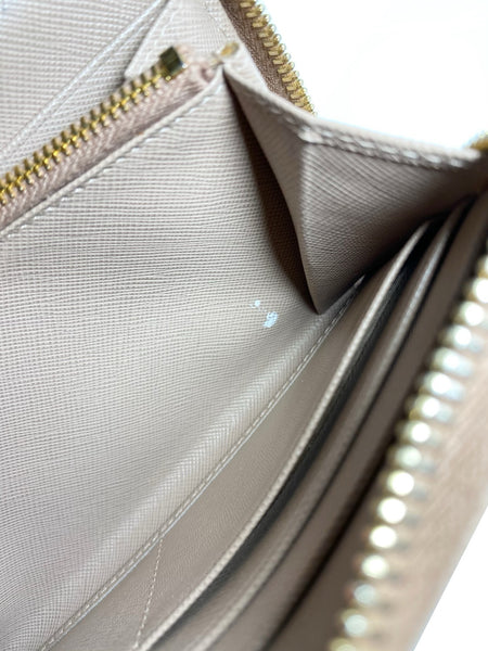 Saffiano Zip Around Wallet