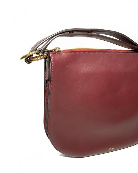 Calfskin Leather Saddle Bag