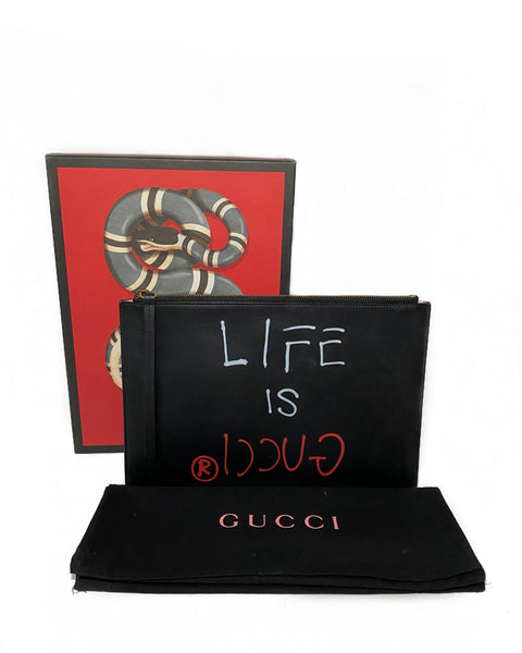 Guccighost Life Is Gucci Clutch