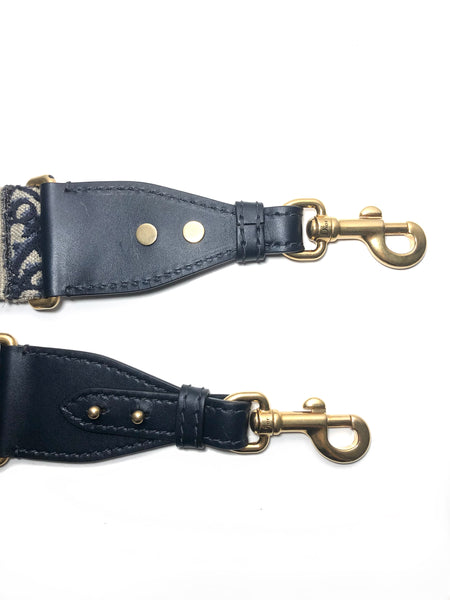 Blue Monogram Oblique Studded Strap