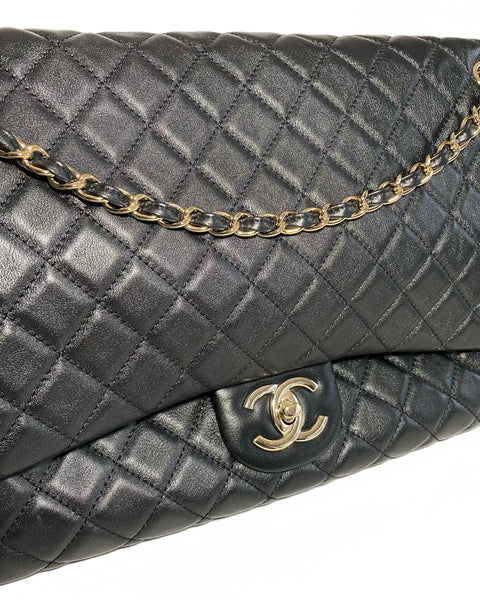 Quilted XL Flap Bag