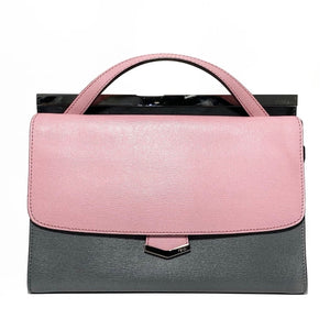 Tricolor Leather Demi Jour Crossbody