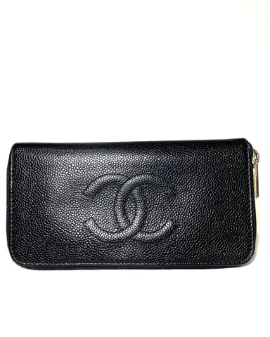 Timeless Caviar CC Zip WAllet