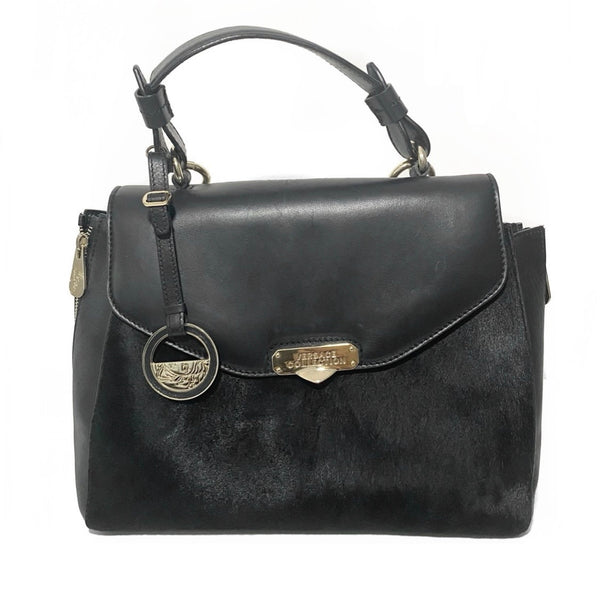 Leather Calfhair Handle Bag