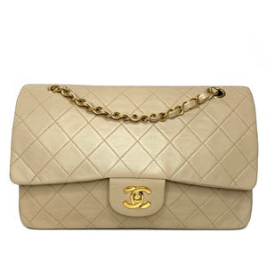 Lambskin Quilted Medium Double Flap Bag