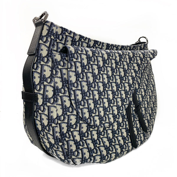 Monogram Oblique Saddle Soft Bag