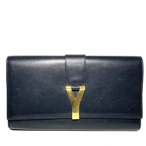 Smooth Leather Y Clutch