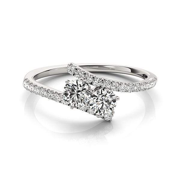 Swirl Dual Diamond Ring- 2 Cttw | The Carat Lab