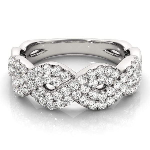 Weaved Diamond Fashion Ring