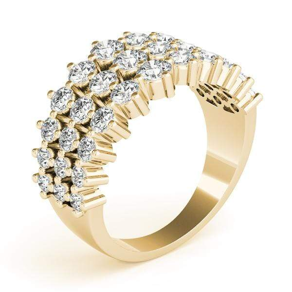 3 Strand Fashion Diamond Ring- 1 Cttw