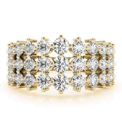 3 Strand Fashion Diamond Ring- 2 Cttw