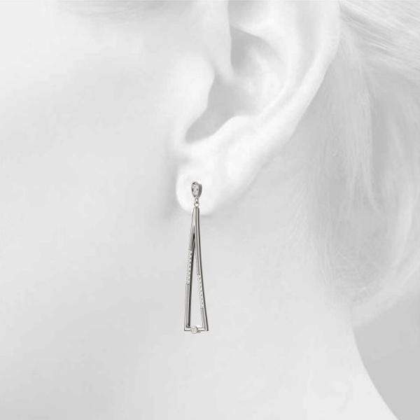 Abstract Drop Fashion Earrings- 0.25 Cttw