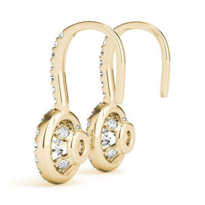 Celestial Diamond Halo Earrings- 0.75 Cttw | The Carat Lab