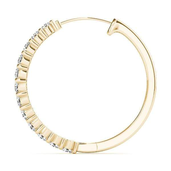 Circle Diamond Hoop Earrings- 0.50 Cttw | The Carat Lab