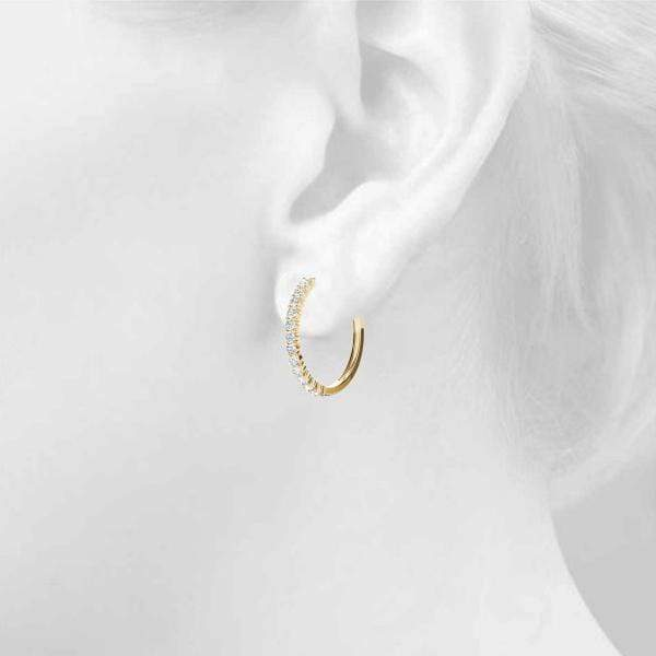 Circle Diamond Hoop Earrings- 0.75 Cttw | The Carat Lab