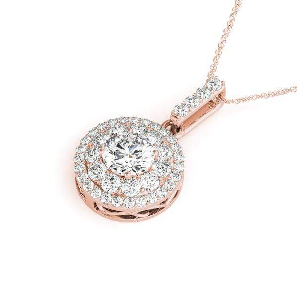 Classic Double Halo Pendant- 1 Cttw | The Carat Lab