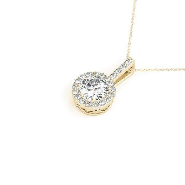 Classic Halo Pendant- 0.65 Cttw | The Carat Lab