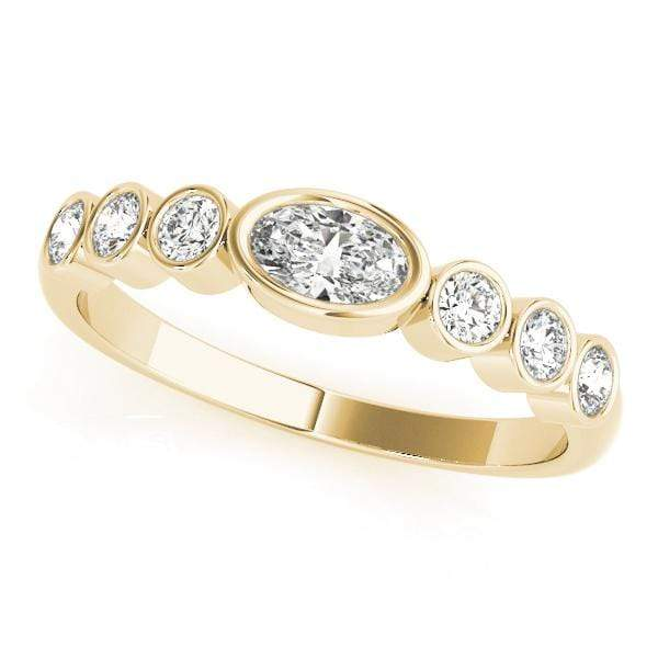 Classic Oval Stackable Diamond Ring | The Carat Lab