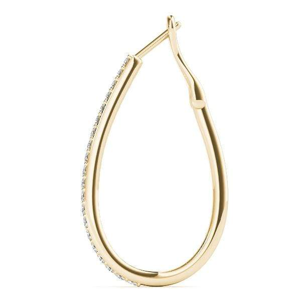 Oval Diamond Hoop Earrings- 0.50 Cttw | The Carat Lab