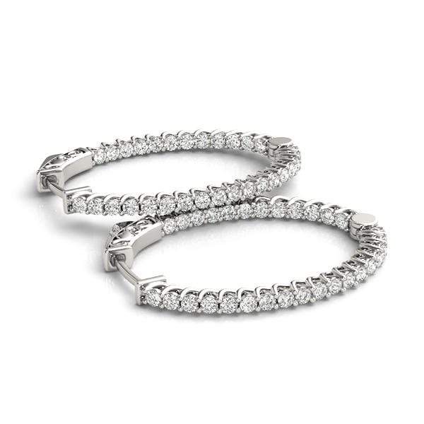 Cradle Diamond Hoop Earrings- 4.35 Cttw | The Carat Lab