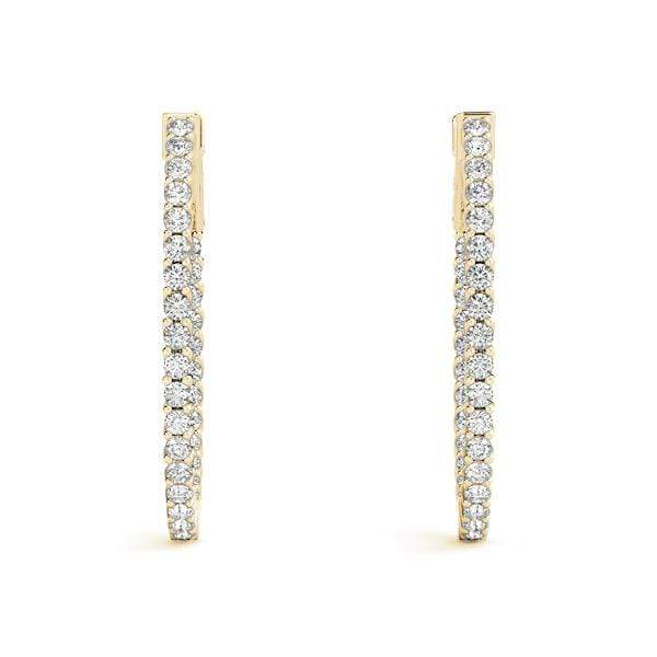 Cradle Diamond Hoop Earrings- 1.20 Cttw | The Carat Lab