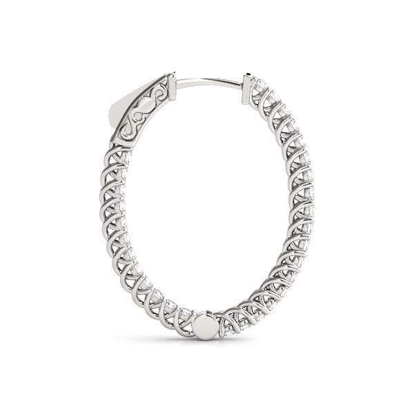 Cradle Diamond Hoop Earrings- 1.75 Cttw | The Carat Lab