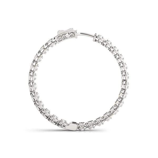 Dashing Diamond Hoop Earrings- 0.75 Cttw | The Carat Lab