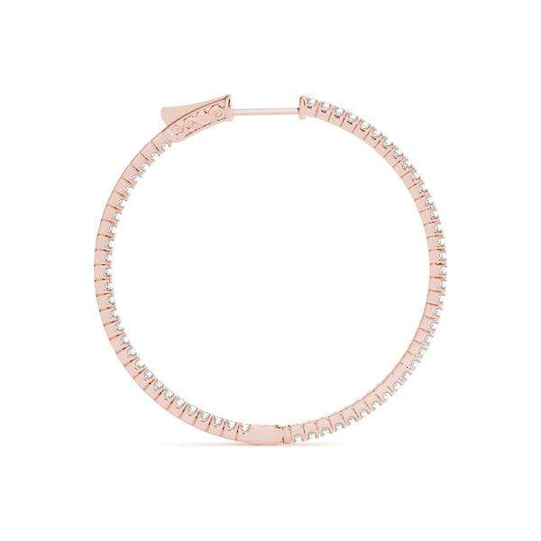 Delicate Diamond Hoop Earrings- 1 Cttw | The Carat Lab