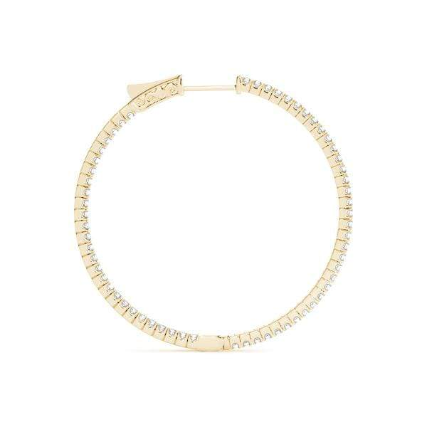Delicate Diamond Hoop Earrings- 0.40 Cttw | The Carat Lab