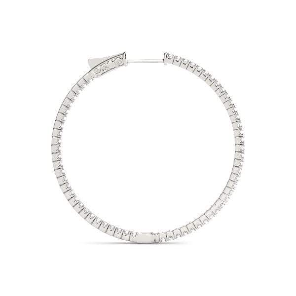 Delicate Diamond Hoop Earrings- 3.10 Cttw | The Carat Lab