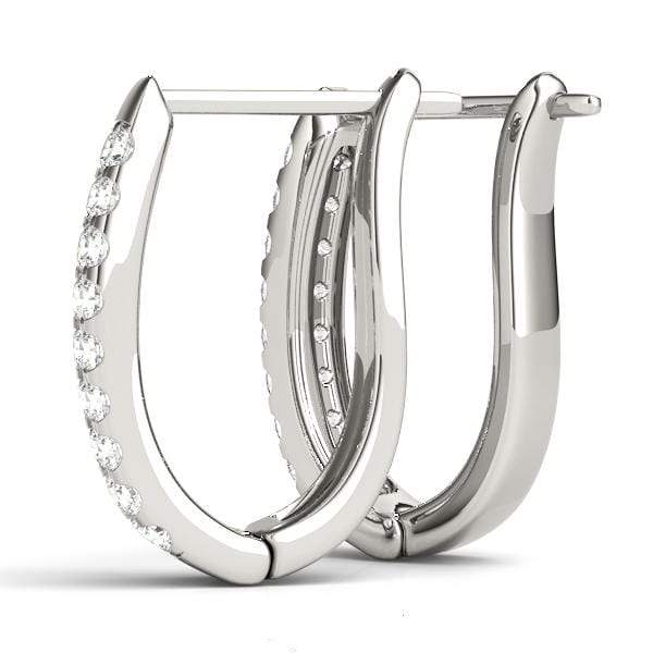 Double Strand Diamond Hoop Earrings- 1 Cttw | The Carat Lab