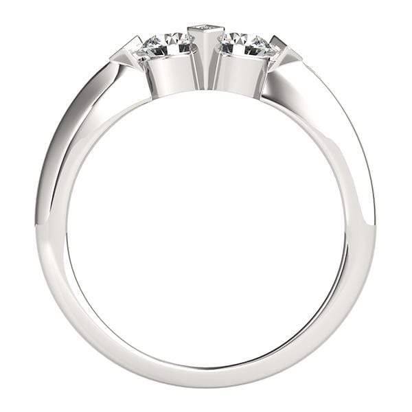 Edgy Dual Diamond Ring- 0.75 Cttw | The Carat Lab