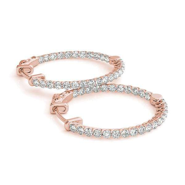 Embrace Diamond Hoop Earrings- 2 Cttw