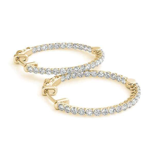 Embrace Diamond Hoop Earrings- 1.50 Cttw | The Carat Lab