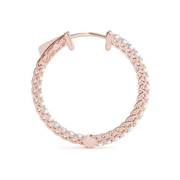 Embrace Diamond Hoop Earrings- 1.5 Cttw | The Carat Lab