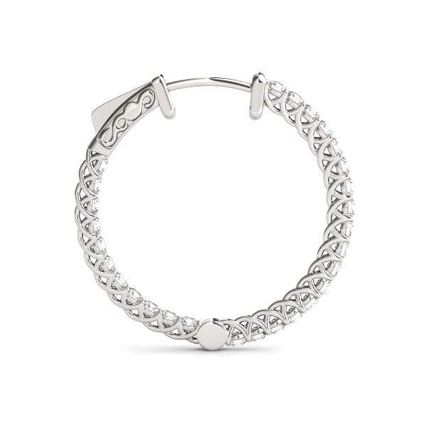 Embrace Diamond Hoop Earrings- 2.30 Cttw | The Carat Lab