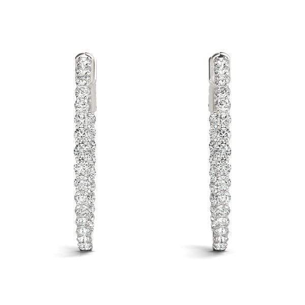 Embrace Diamond Hoop Earrings- 1.82 Cttw | The Carat Lab