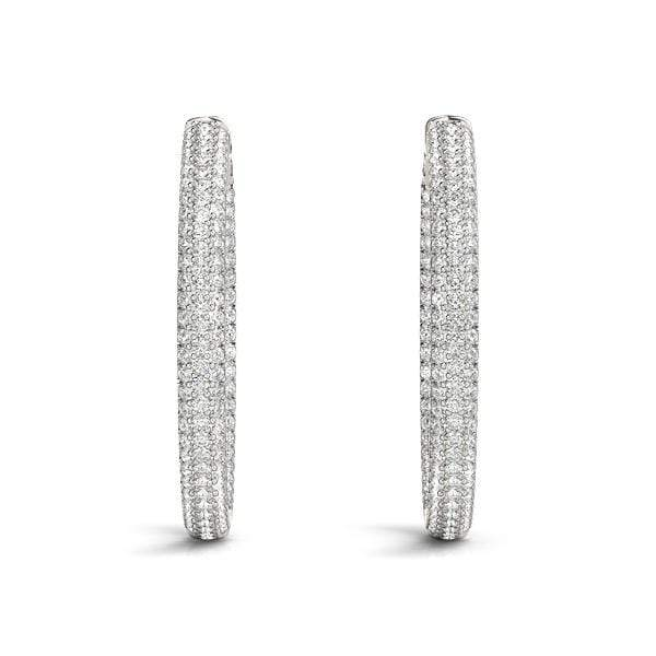 Enhanced Diamond Hoop Earrings- 3.4 Cttw | The Carat Lab