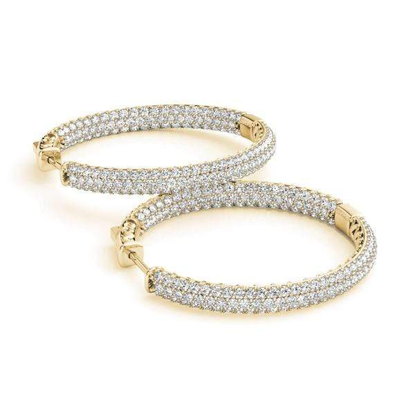 Enhanced Diamond Hoop Earrings- 2.25 Cttw | The Carat Lab