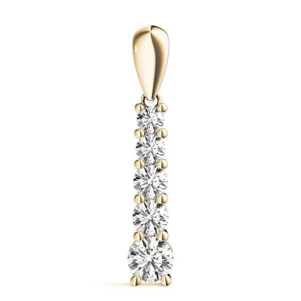 Exclamation Diamond Journey Pendant- 1 Cttw | The Carat Lab